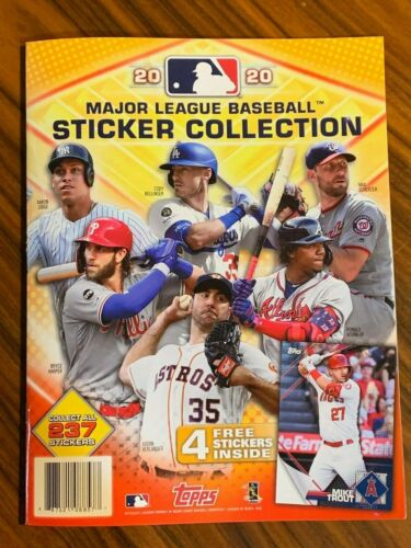 2020 Topps Baseball Sticker Collection Album 4 Starter Stickers Free Promo Pack