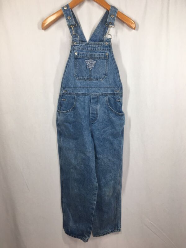 GUESS girls jeans overall shorts bib denim shortalls vintage Made in USA-8