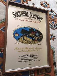 Southern Comfort 'Grand Old Drink of the South' Wood Frame Mirror Glen Waverley Monash Area Preview