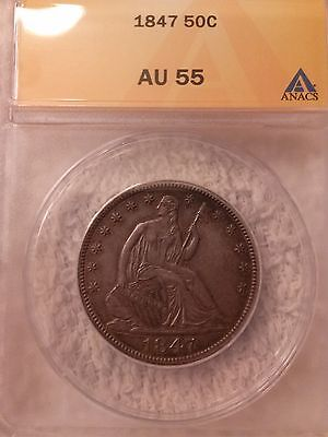 Click now to see the BUY IT NOW Price! 1847 P LIBERTY SEATED 50C AU 55 NO ISSUES OR DETAILS RARITY 6.2 OR BETTER