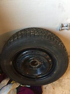 195/65/15 winter studded tires on rims