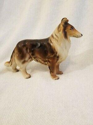Occupy Japan Brown and White Collie Ceramic Dog Figurine