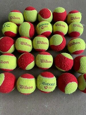 20 Mini Red Tennis Balls