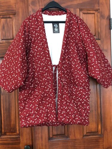 NEW Japanese Hanten Quilted Cotton Kimono Jacket Watanosato M-L