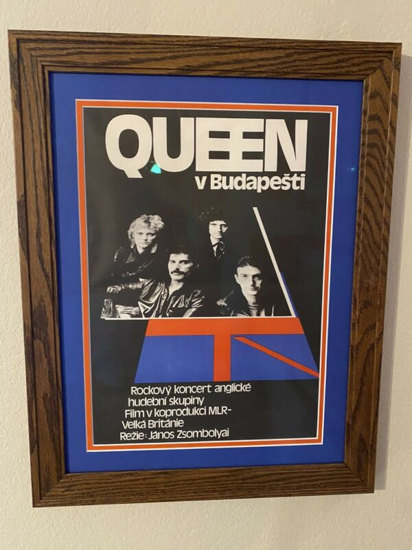 Queen Original Budapest Concert Poster Framed