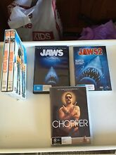 Dvds- Jaws 1-2. Wayne's world 1-2. Chopper Grovedale Geelong City Preview