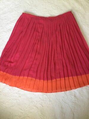 JONES NEW YORK sz14 Primrose Color Block Pleated Lined Skirt