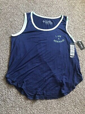 Hot Topic I Am A Mermaid Strapped Blouse Tank Top New With Tags Ladies XL