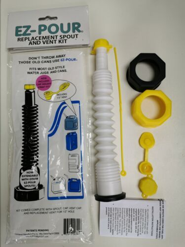 EZ-Pour Gas Can Spout Replacement Fuel Nozzle Vent Kit for Old Can Water Jug
