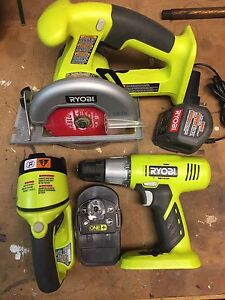 Drill, Saw, light, rechargeable w/lithium battery
