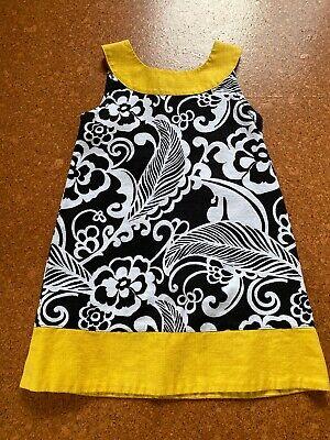 Gymboree Girls Dress Size 5 EXCELLENT CONDITION Black White Yellow 70's
