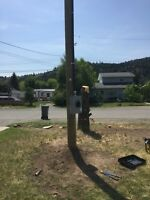Power pole telephone pole supply and install