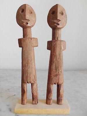 Set of 2 Statuettes Aklama Adan Ade Ada Ewe Art Ethnic Tribal African