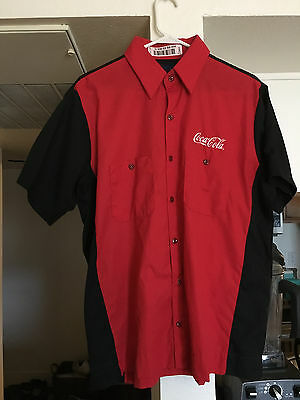 Coca-Cola Employee Coke Delivery Driver Uniform Shirt Large SS Halloween Costume (Coke Costume Halloween)