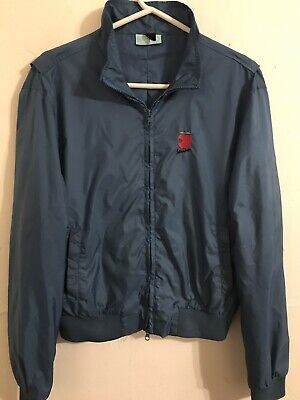 Men's Small Vespa Scooter MoPed Blue Unisex Apple Logo Jacket, Good Condition