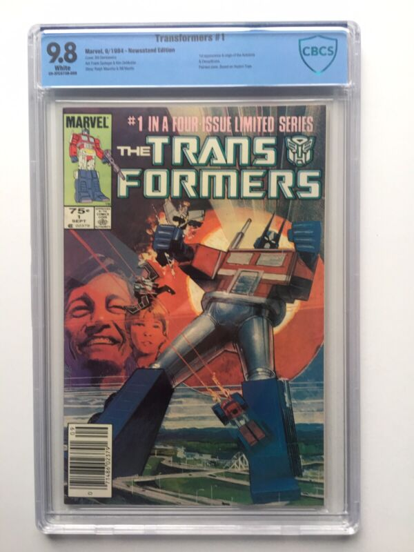 Transformers #1 CBCS 9.8 Newsstand Edition W/ White Pages NM!!!