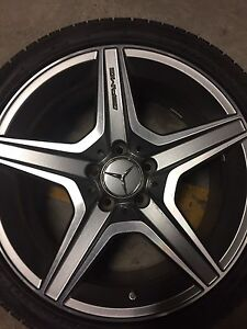 NEW Mercedes AMG rims and tires
