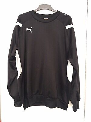 Mens Puma Sports Jumper Sweatshirt Top Black Size XL