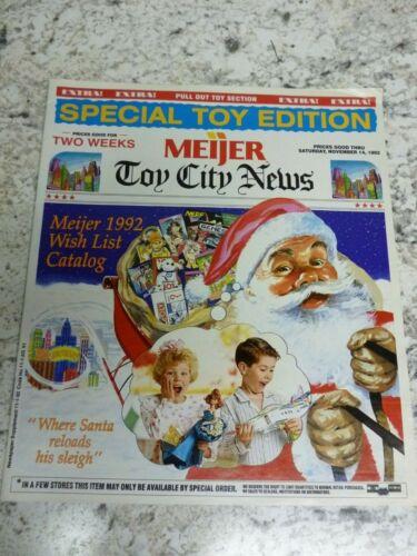 1992 Meijer Christmas Holiday Toys Catalog Disney Nerf RC sega R US 24 pgs