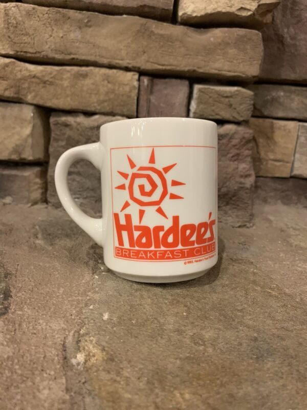 VINTAGE GOOD CONDITION HARDEES BREAKFAST CLUB COFFEE MUG/CUP 1993
