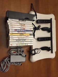 Wii with Wii fit and 14 games