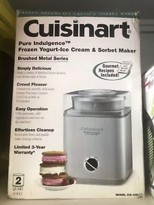 Cusinart Ice cream and sorbet maker - price reduced