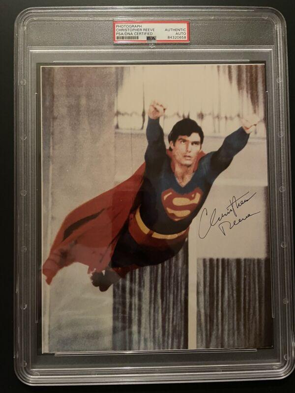 Christopher Reeve Superman Autograph 8x10 Photo PSA Encapsulated Rare Piece!!