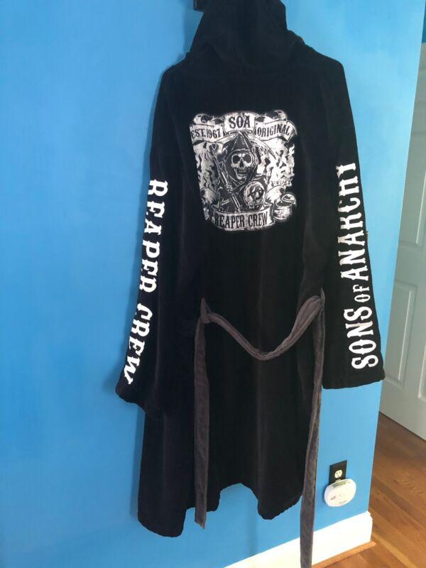 Sons of Anarchy Terry Cloth Bath Robe ONE SIZE, NEW UNWORN