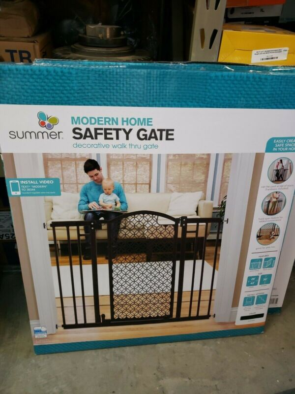 Summer Infant 42-in x 30-in Bronze Metal Safety Gate with Extensions #1158105