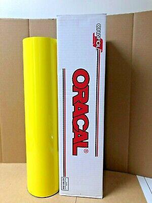 Oracal 651 1 Roll 24 X 50yd 150ft Brimstone Yellow 025 Gloss Sign Vinyl