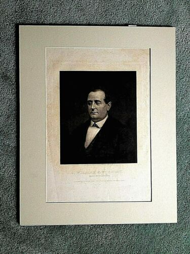 Orig. Engraving, William S. Stokley, Philadelphia Mayor, 1872, John Sartain,Publ