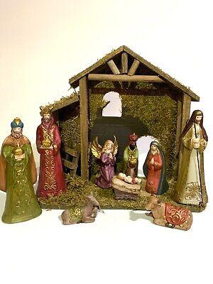 10 Piece Porcelain Nativity Set-Hand Painted Porcelain