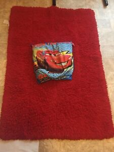 Rug and cars pillow