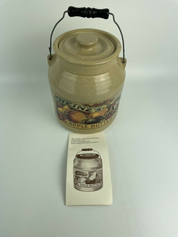 Vintage 1992 Heinz Apple Butter Crock Collectable Stoneware Pittsburgh Pa