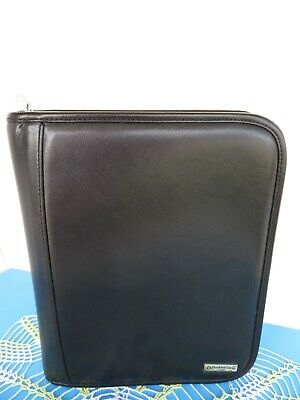 Classic 1.5- Rings Black Leather Franklin Covey Planner Binder Organizer Zip