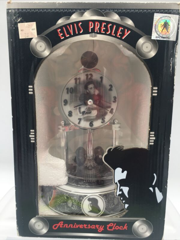 Elvis Presley Anniversary Clock NEW Porcelain  Base, & Glass Dome Quartz 2014