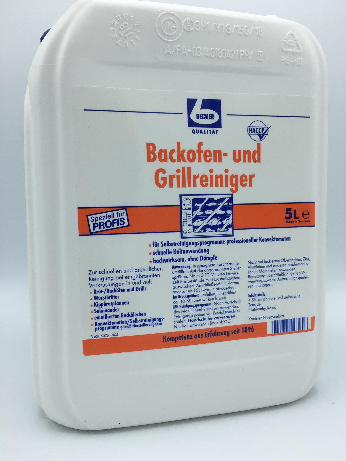 Dr. Becher Backofen und Grillreiniger Kanister 5,0l Fettlöser Grill Rein