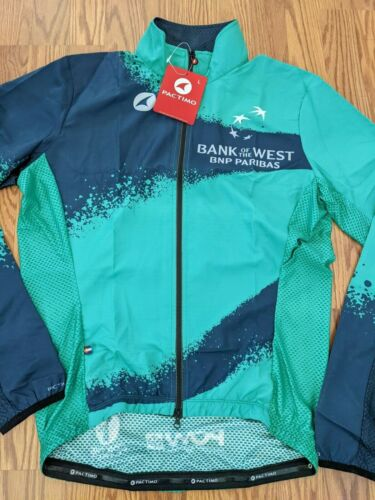 NWT Pactimo Lightweight Cycling Jacket Jersey Bank of the West BNP Paribas Large