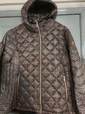 MICHAEL Michael Kors Womens Packable Quilted Puffer Coat Jacket Leopard 1X