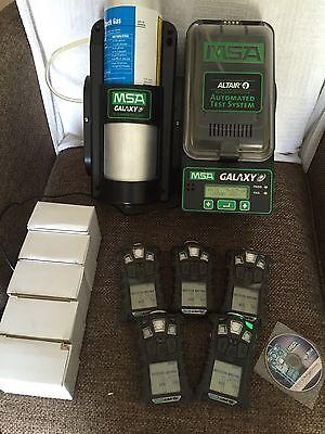5X Five Msa Altair 4X Multi Gas Detector Monitor O2 H2s Co Lel Calibration Unit