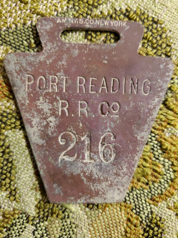Vintage Railroad Baggage Luggage Tag Property Tag Employee PORT READING