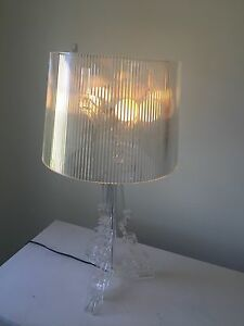 Clear transparent replica Bourgie table desk lamp,need to go ASAP Moorabbin Kingston Area Preview