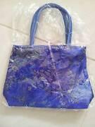 New Oriental Chinese small blue handbag ladies kid post Cobram Moira Area Preview