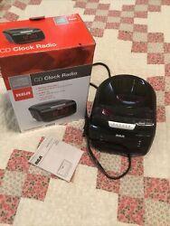 CD Player Clock Radio w/ LED Display Smart Snooze AM/FM radio