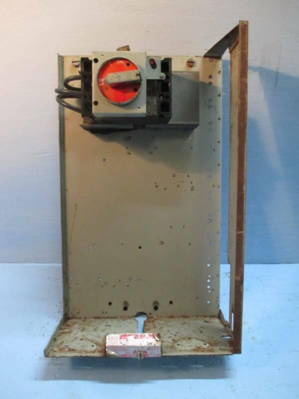 """General Electric GE 7700 Series 100 Amp 24"""" Breaker Type MCC MCCB Feeder Bucket"""
