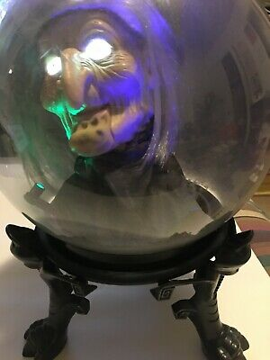 "GEMMY Animation Witch Head Motion Activated Lights 14"" Spirit Ball"