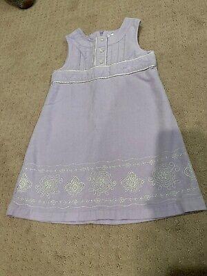Carter's 3T Girls 100% Cotton Lavender Purple Velvet Embroidered Easter Dress
