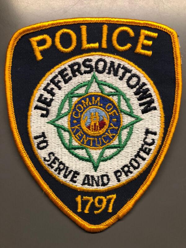 Vintage Jeffersontown Kentucky Police Patch