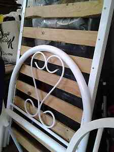 GIRLS WHITE SINGLE  sized bed frame complete with wooden slats Normanhurst Hornsby Area Preview