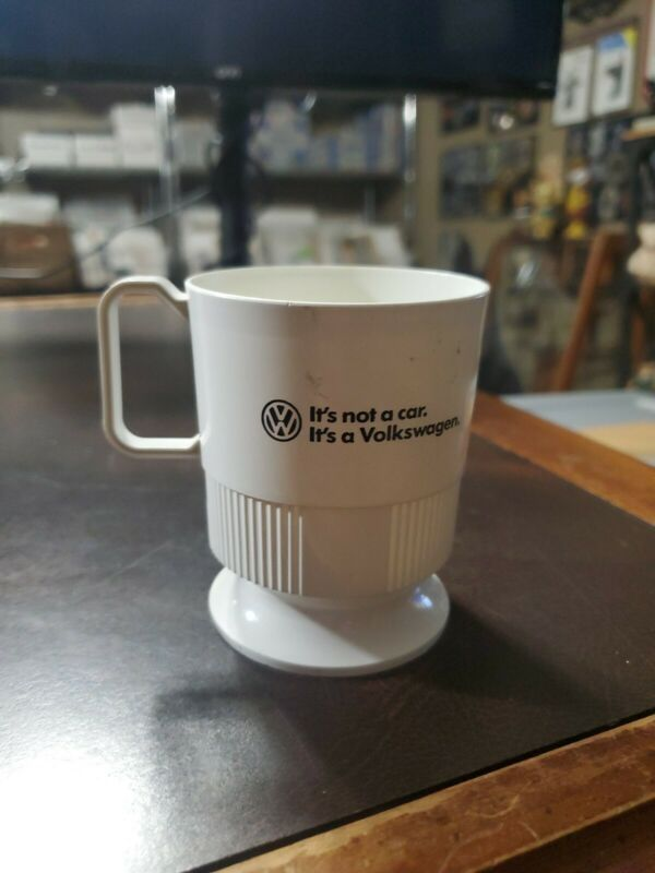 Vintage Volkswagen VW Dealership Premium Coffee Sweatheart Cup Holder